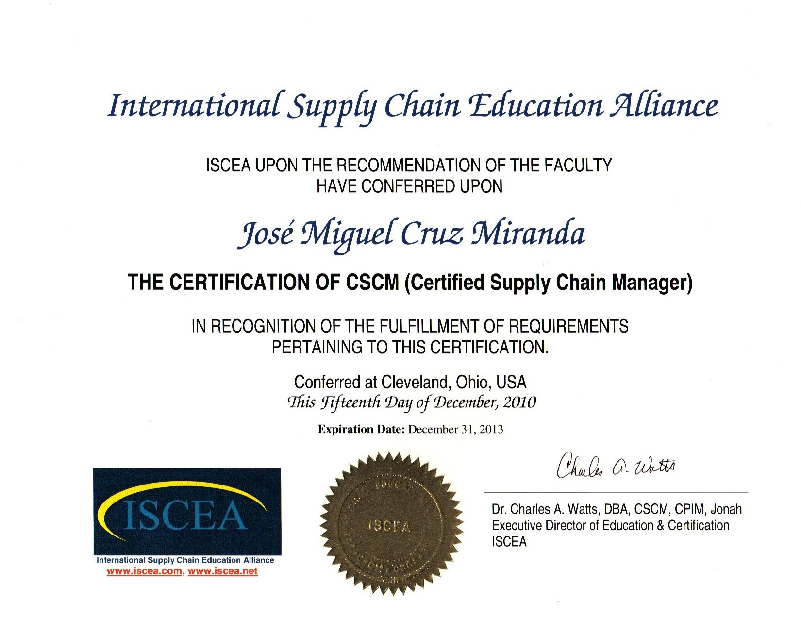 Certified Supply Chain Manager